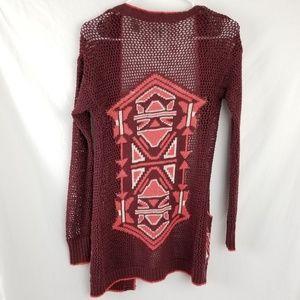 BKE Sweaters - BKE Crochet Cardigan Sz XS